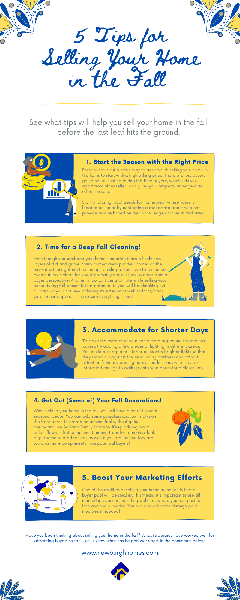 5 Tips for Selling Your Home in the Fall infographic